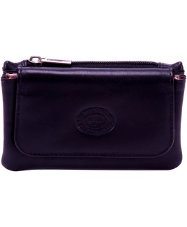 London Leathergoods Cow Nappa Coin Purse with Flap