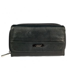 Lorenz Sheep Nappa Zip Round RFID Proof Purse Wallet- New Lower Price !
