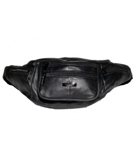 Multiple Zip Sheep Nappa Full Leather Bumbag **Reduced**