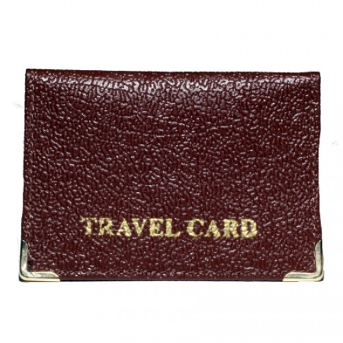 Grained Leather Travel Card Case