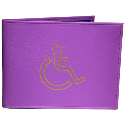 Grained PU Disabled Badge Holder
