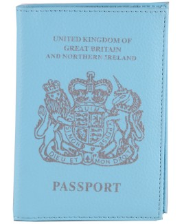 Leather Grain PU Passport Cover
