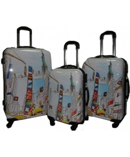 **** WHILE STOCKS LAST*  Lorenz Printed ABS Luggage Set -