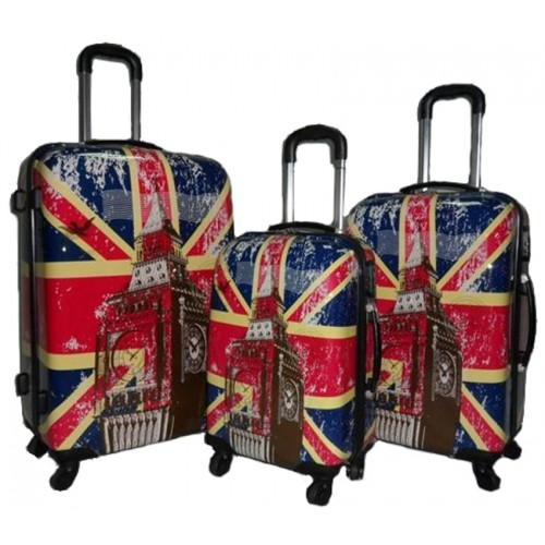 ** NEW OFFER **  Lorenz Printed ABS Luggage Set - SALE PRICE!!!