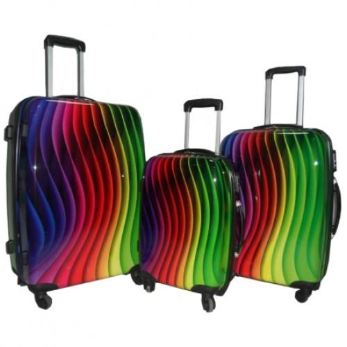 **** MASSIVE FINAL REDUCTIONS*  Lorenz Printed ABS Luggage Set -