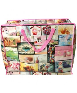 Printed Laundry/Shopping Bag - Large