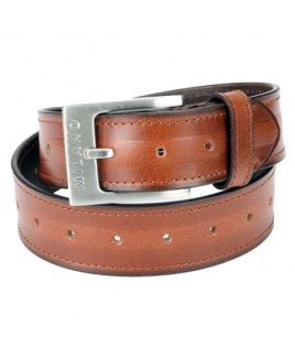 "1.5"" Full Leather Belt with Nickel Buckle- REDUCED PRICE !"