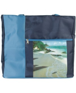 Top Zip Micro Fibre Beach Bag with Front Zip - CLEARANCE PRICE !!!