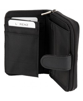 Lorenz Accessories Cowhide Zip Round RFID Proof Purse- Price Drop
