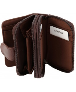 Lorenz Accessories Cowhide Twin Zip RFID Proof Purse- Lower Price!