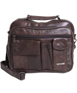 Lorenz Cow Hide Large Unisex Multi Pocket Bag