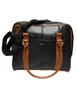 Lorenz Cow Hide Laptop/Work Bag (ALL BLACK ONLY)-SALE PRICE!