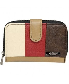 Lorenz Accessories Multi Cowhide Zip Round RFID Proof Purse- Prices Down!