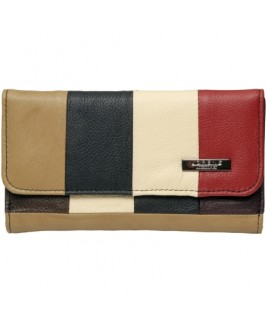 Lorenz Accessories Multi Cowhide 17cm Framed Purse- Prices Down !