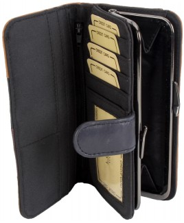 Lorenz 16cm Multi Sheep Nappa Purse Wallet-PRICE DROP!