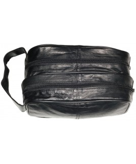 Sheep Nappa Double Top Zip Wash Bag