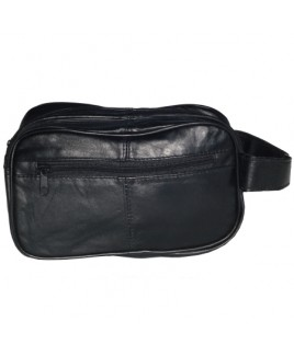 Sheep Nappa Double Top Zip Wash Bag- New Lower Price !