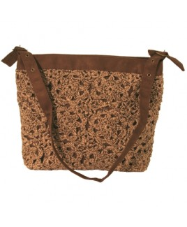 Large Woollen Top Zip Shoulder Bag -- FURTHER REDUCTIONS!!