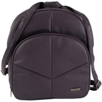Lorenz Leather Grain PU Zip Round Backpack