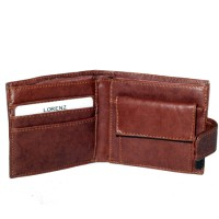 Lorenz Leather Grained PU Wallet with Coin Pocket