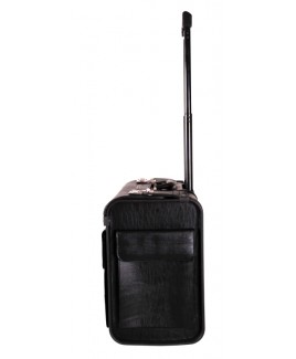 Grained PVC Pilot Trolley Case with Document Pocket