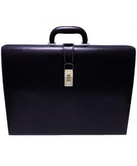 Black Leather Grain PVC Unisex Executive Case