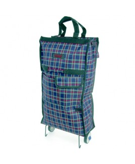 Trolley Cart Shopper with Top Zip