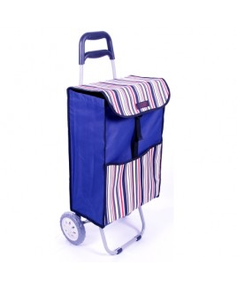 Two Wheel Trolley with Flap & Back Zip - New Lower Price !