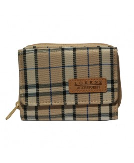 Lorenz Check Print Zip Round Purse- PRICE REDUCTION !