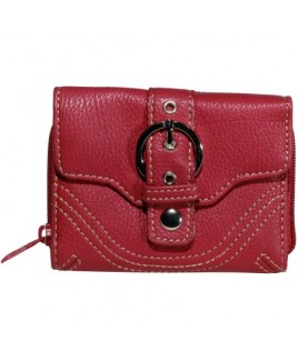 Lorenz Accessories Two Tone Leather Grain PU Purse - NEW LOWER PRICE !