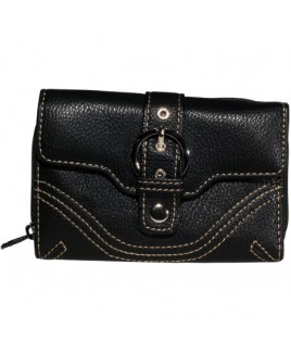 Lorenz Accessories Leather Grain PU Medium Purse- PRICE DROP
