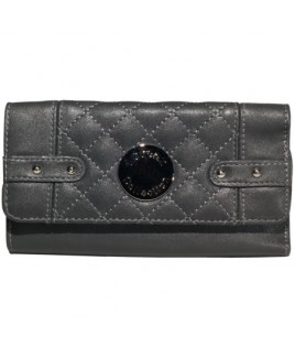 Lorenz Accessories Quilted PU Semi Zip Round Purse- PRICE REDUCTION!