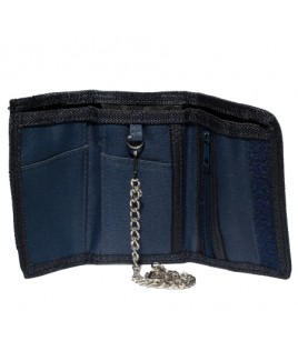 Lorenz Trifold Polyester Wallet with Chain