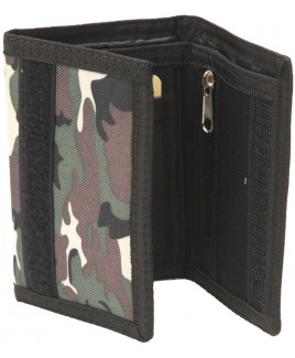 Lorenz Camouflage Print Trifold Polyester Wallet