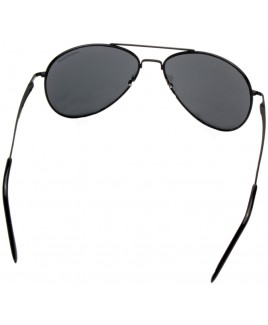Aviator Style Sunglasses with Metal Frame & Black Lenses -SALE PRICE!