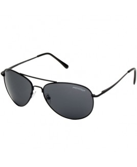 Aviator Style Sunglasses with Metal Frame & Black Lenses