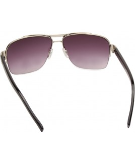 Aviator Style Sunglasses with Half Framed Lenses - SALE PRICE!