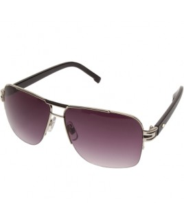 Aviator Style Sunglasses with Half Framed Lenses