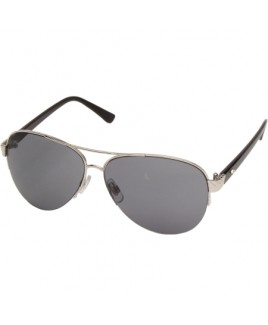 Aviator Style with a Slim Silver Metal Frame