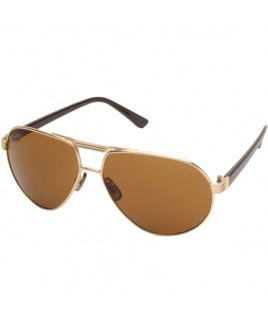 Aviator Style Sunglasses with Gold Metal Frame - SALE PRCE !
