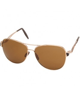 Ladies Aviator Sunglasses with Gold Finish Frames