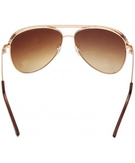 Aviator Style Sunglasses with Gold & Diamante Frame
