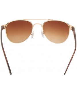Aviator Style Sunglasses with Animal Print Frames