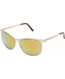 Clubmaster Sunglasses with White/Gold Finish Frames - SALE PRCE !