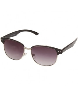 Clubmaster Sunglasses with Black/Silver Finish Frames
