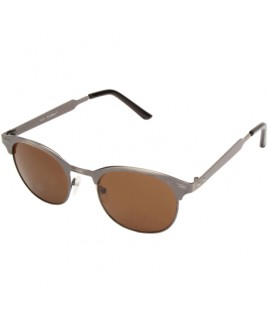 Clubmaster Style Sunglasses with Gun Metal Frames