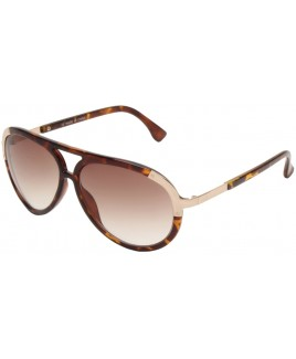 Aviator Style Sunglasses with Gold Metal Temples