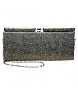 Snake Grain PU Evening Clutch Bag